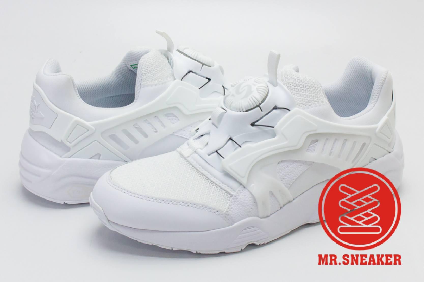 ☆Mr.Sneaker☆ Puma Disc Blaze Trinomic CT 轉盤 非武士鞋 後提把 蜂巢避震 男女段 白