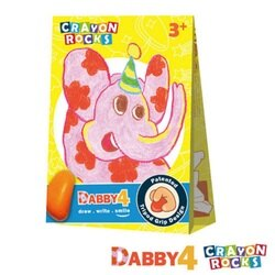 美國Crayon Rocks酷蠟石 - 花花象 黛比 4色