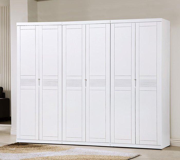 【尚品傢俱】HY-A110-01 凱西白色8尺衣櫥