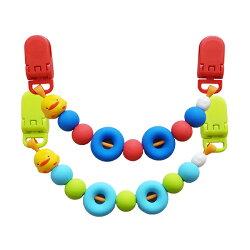 【奇買親子購物網】黃色小鴨 PiYO PiYO 夜光甜甜圈萬用夾(超人紅/怪獸綠)