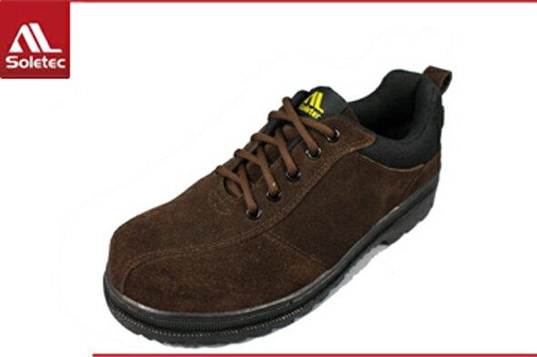 Soletec超鐵安全鞋【皮革製工作休閒兩用鞋】 休閒鞋.防護鞋 .100% 台灣製造-C136505