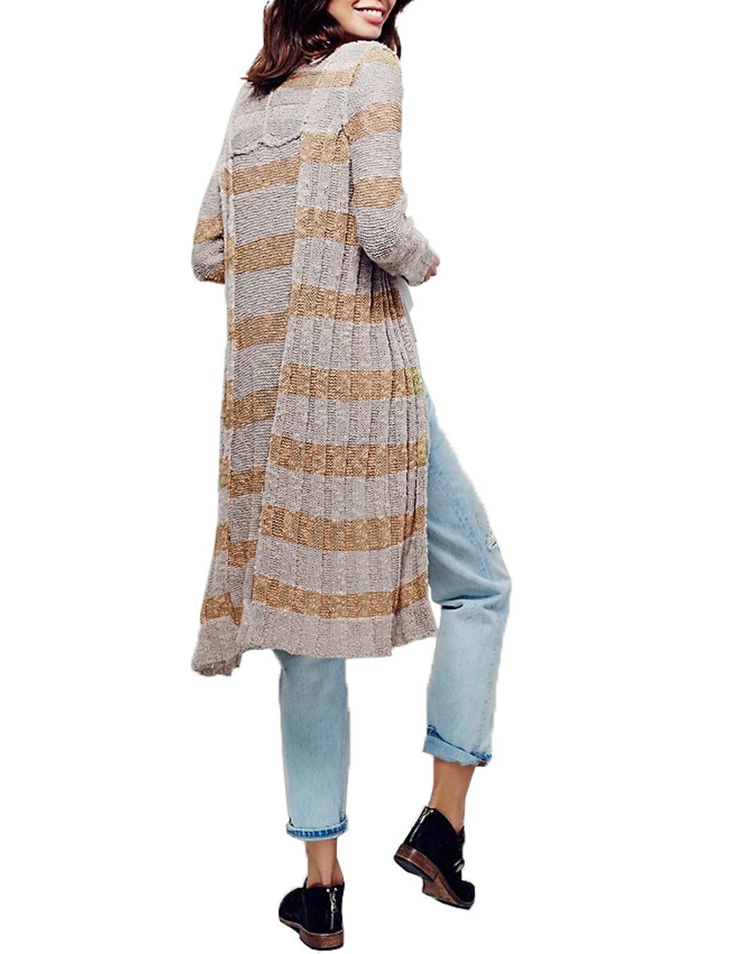Miageek Women Long Sleeve Maxi Cardigan Outwear 1