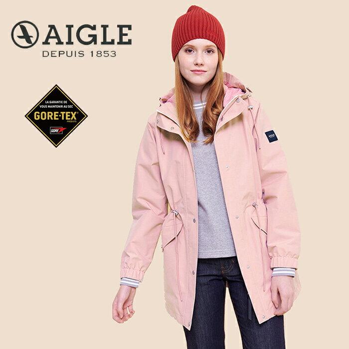 【AIGLE 法國】ANIKER GORE-TEX 防水外套 防水透氣外套 風衣 女款 粉紅色 (AG-0A209-A011)