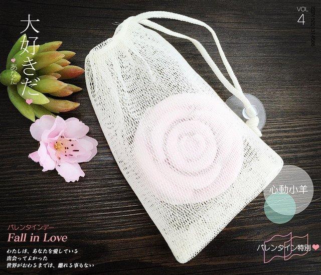 心動小羊^^雙層皂袋起泡網附吸盤,讓皂更好用喔