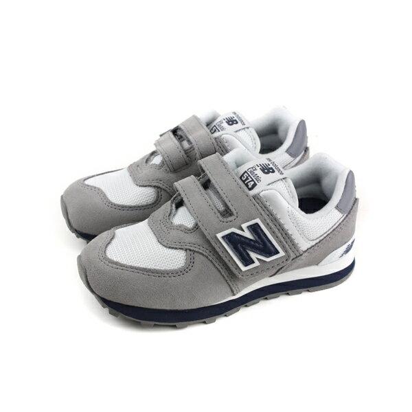 NewBalance574系列運動鞋魔鬼氈灰色中童童鞋YV574CG-Wno447