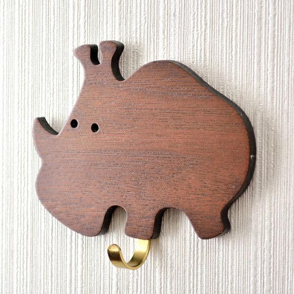 【HYI家居生活館】木薄片動物壁掛-犀牛《MIT手工製作全館免運費》