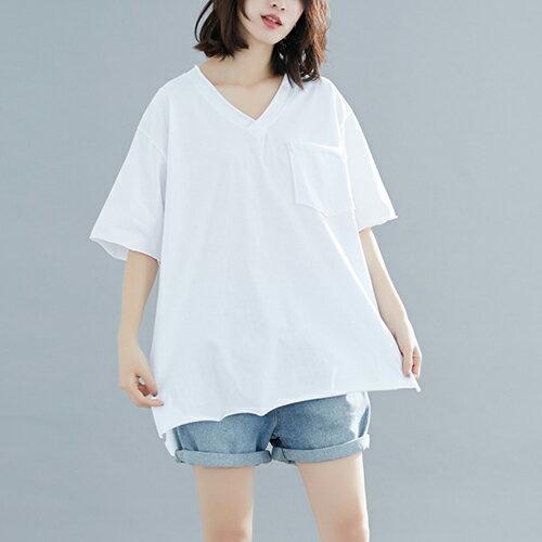 V領T恤寬鬆上衣(4色F碼)【OREAD】 1