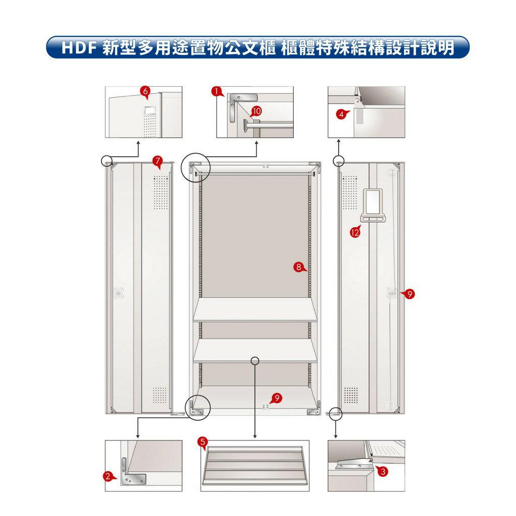 【三色】HDF 新型多用途置物公文櫃系列(雙開門) HDF-SC-011(附鑰匙鎖)收納櫃 置物櫃 公文櫃 鑰匙櫃