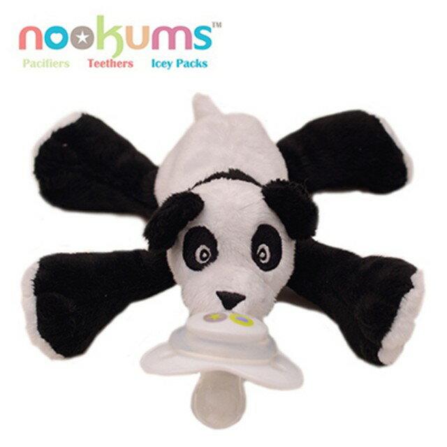 【安琪兒】美國【nookums】安撫奶嘴玩偶-熊貓(可通用90%以上奶嘴) - 限時優惠好康折扣