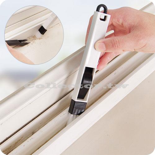 窗戶窗槽凹槽清潔刷附畚箕縫隙刷鍵盤刷