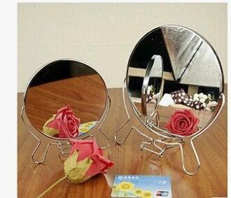金屬框雙面鏡(一面有放大效果) 桌鏡 360度轉 桌鏡 6寸 8寸 @兩款供選 圓鏡 /立鏡 /化妝鏡 ☆真愛香水★