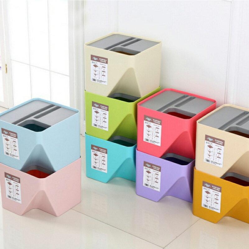 垃圾桶 回收桶 收納桶 分類桶【小型款】馬卡龍系列分類垃圾桶 天空樹生活館
