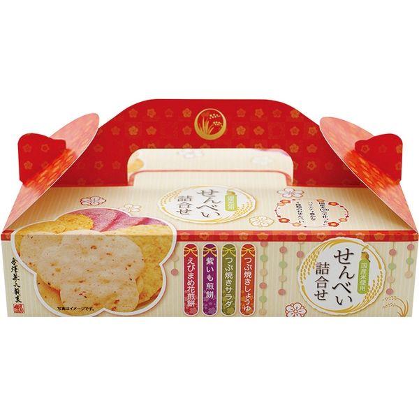 【江戶物語】金澤兼六 綜合仙貝禮盒 4味煎餅禮盒 4種10枚 米果禮盒 薄燒煎餅 伴手禮 佳節送禮