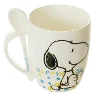 【真愛日本】14121100022 SN幸福馬克杯附匙 史努比 SNOOPY 杯子 馬克杯 陶瓷