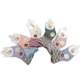 【淘氣寶寶】彼得兔 防滑精繡寬口寶寶襪 9-12公分 SK3862