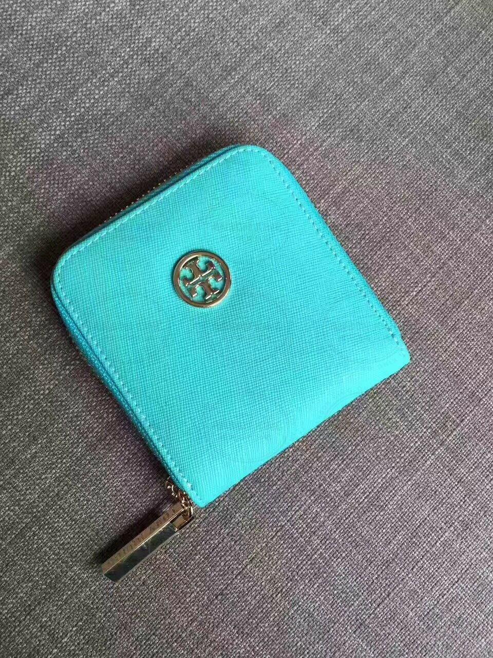 Outlet正品代購 Tory Burch TB 馬卡龍多色零錢包 天藍色 卡片包 證件包 錢包 皮包 有多色