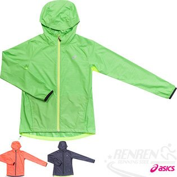 ASICS亞瑟士女慢跑風衣外套(綠)