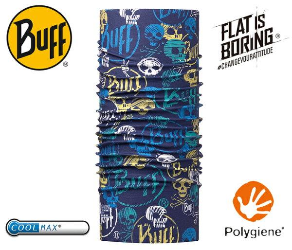 ├登山樂┤西班牙BUFF青少年COOLMAX抗UV頭巾-骷髏惡霸#BF115082-790