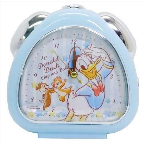 X射線【C067046】唐老鴨DonaldDuck鬧鐘-條紋,時鐘掛鐘壁鐘座鐘鬧鐘鐘錶手錶潛水錶