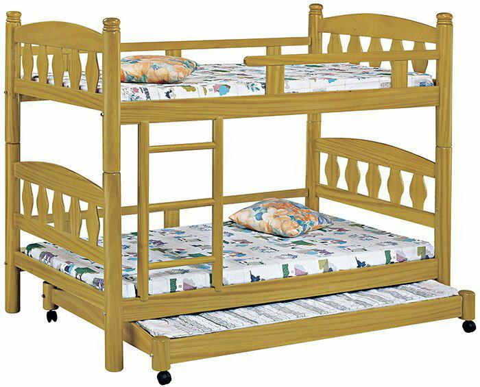 【尚品家具】HY-A195-02 烏心石3.5尺三層床