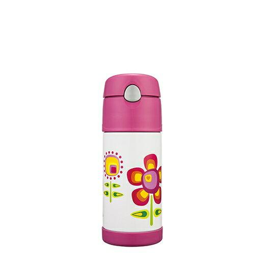 【安琪兒】日本【Thermos】不銹鋼真空保冷瓶400ml(小花兒) - 限時優惠好康折扣