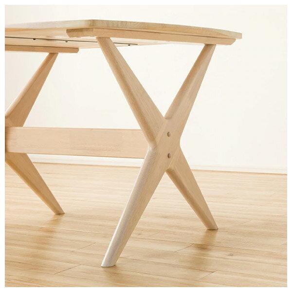 ◎(OUTLET)實木餐桌椅三件組 RELAX WIDE90 WW 橡膠木 福利品 NITORI宜得利家居 3