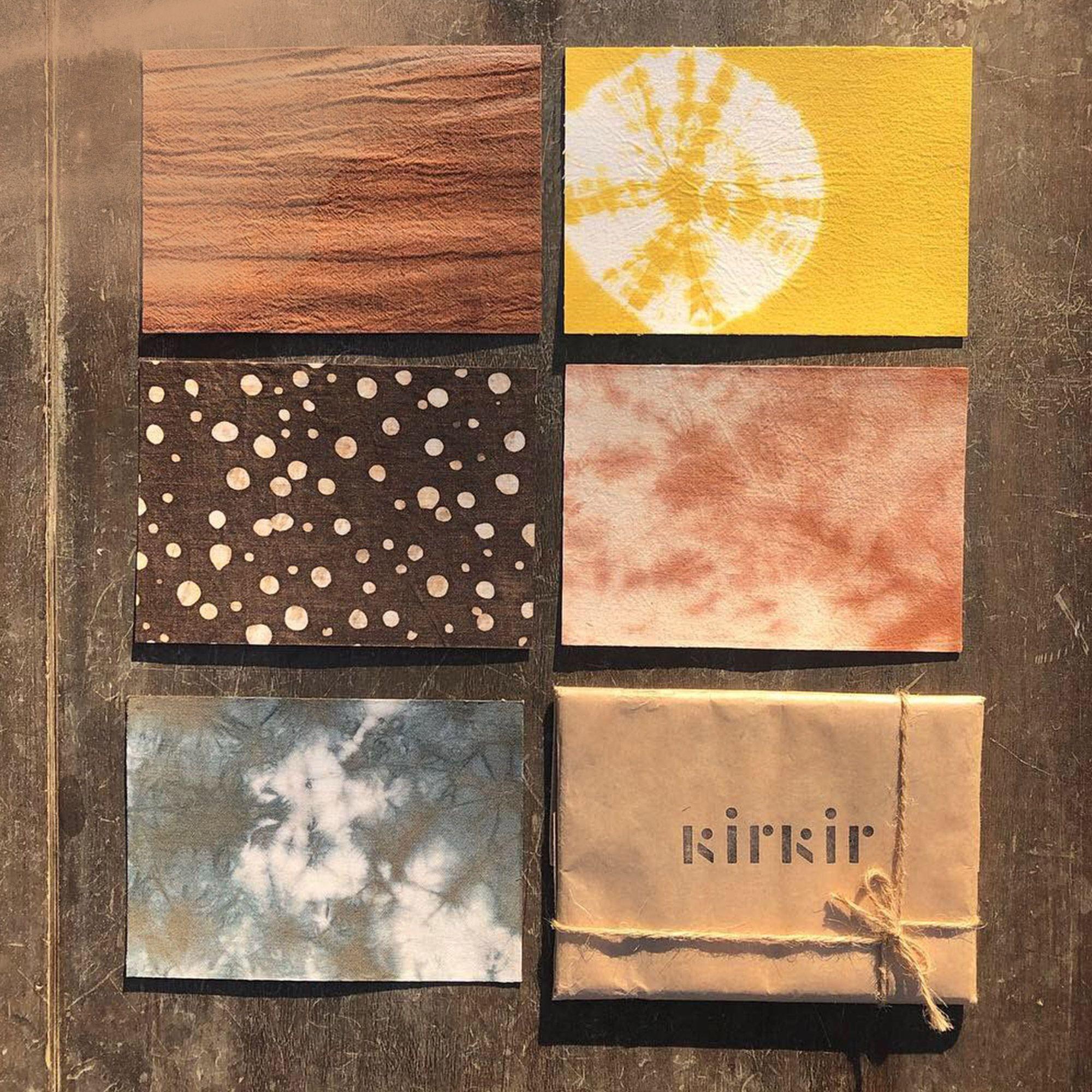【新埔柿染坊】染布明信片,傳遞一份更有溫度的情感和一份珍藏的 紀念小物