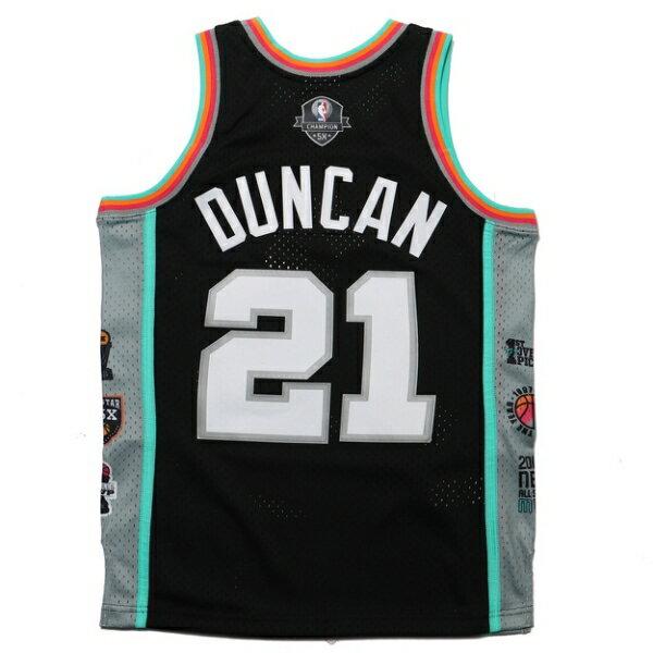 MITCHELL & NESS M&NBA生涯紀念版球衣 DUNCAN 馬刺 黑 彩虹 (布魯克林) MNSWJG2200A