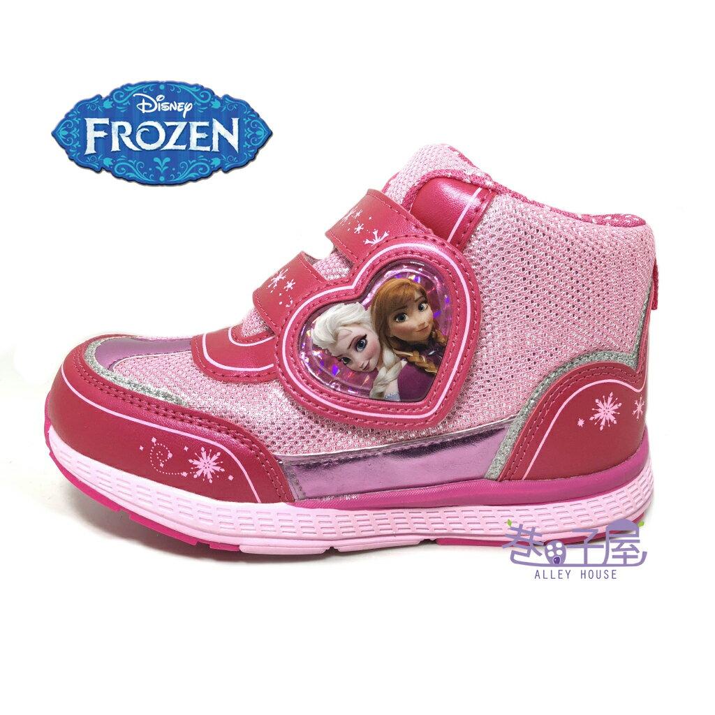 【巷子屋】DISNEY迪士尼 冰雪奇緣女童亮蔥超輕量高筒運動休閒鞋 [64203] 粉紅 超值價$298