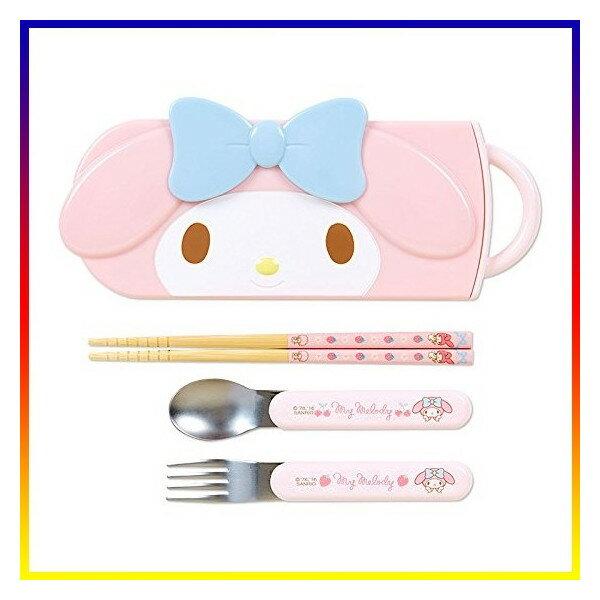 【曙嘻sooth-日本直送】美樂蒂Melody  [日本製]湯匙筷子叉子餐具組