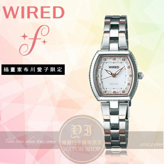 WIREDf日本原創插畫家布川愛子太陽能限定腕錶VJ17-0DT0KSAY8032X1公司貨