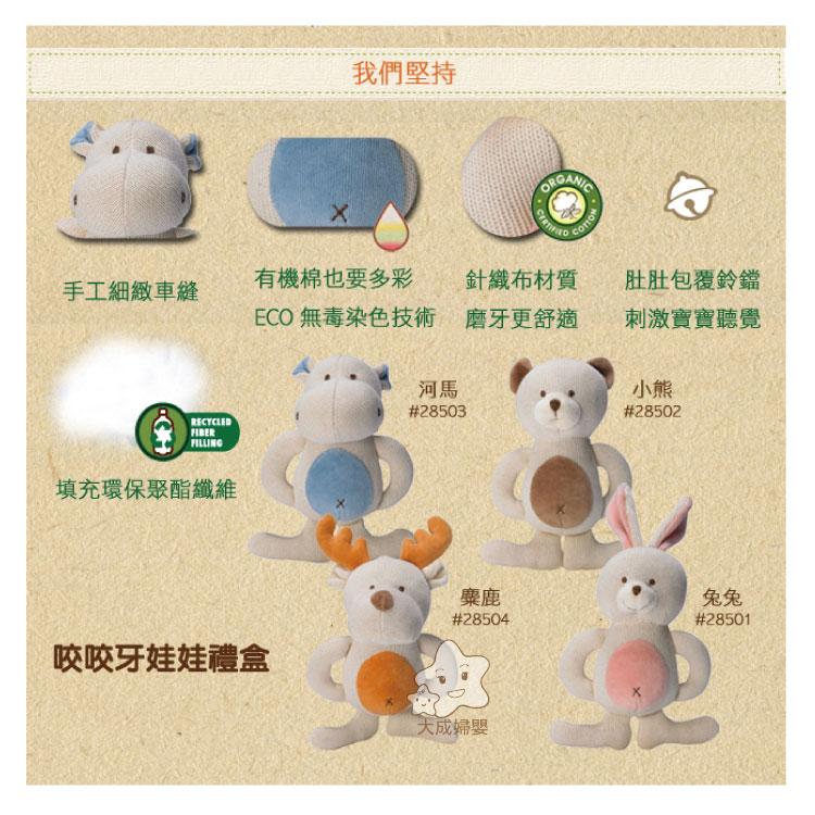 【大成婦嬰】美國 miYim 固齒娃娃禮盒系列 28501 (4款樣式) 兔兔、河馬、熊熊、麋鹿 全新 公司貨 2