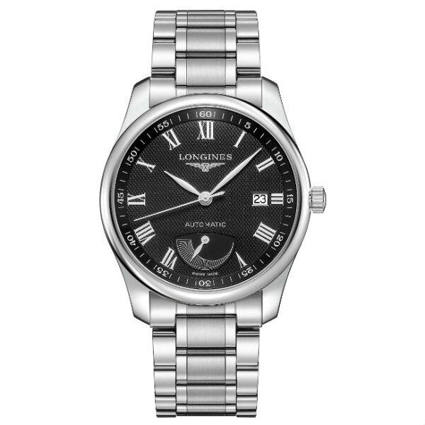 LONGINES浪琴表L29084516巨擘經典優雅羅馬機械腕錶黑網紋面40mm