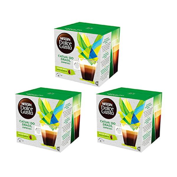 愛美麗福利社:雀巢DolceGusto義式濃縮咖啡膠囊巴西卡圖艾限定版(catualdoBrazil)(3盒組,共48顆)