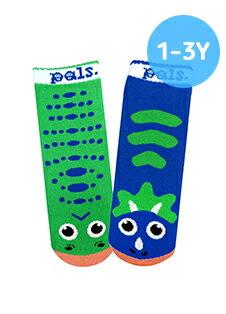 ★衛立兒生活館★美國Pals Socks 好夥伴寶寶襪-暴龍三角龍(1-3Y)