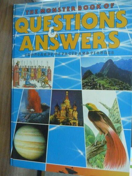 【書寶二手書T4/原文書_PMN】The Monster Book of Questions Answers