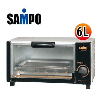 免運費 SAMPO聲寶 6L迷你電烤箱 KZ-LA06