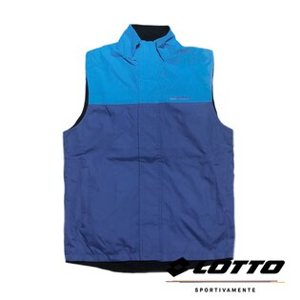 【巷子屋】義大利第一品牌-LOTTO樂得男款雙面穿防潑水多功能防風背心[LT4BMV0786]藍黑超值價$298