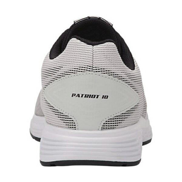 Shoestw【1011A131-023】ASICS 亞瑟士 PATRIOT 10 慢跑鞋 基本款 網布 淺灰白黑 男生 2
