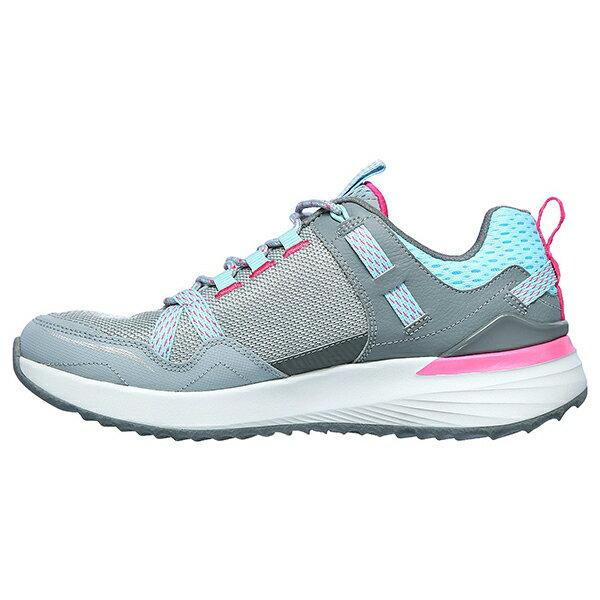 SKECHERS【149081LBPK】TR Ultra 健走鞋 戶外運動鞋 防潑水 橡膠底 記憶鞋墊 灰水藍桃 女生