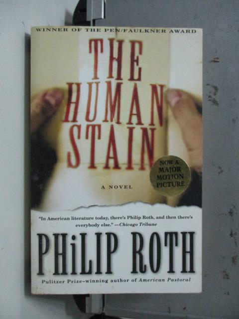 【書寶二手書T8/原文小說_NAW】The Human Stain_Roth