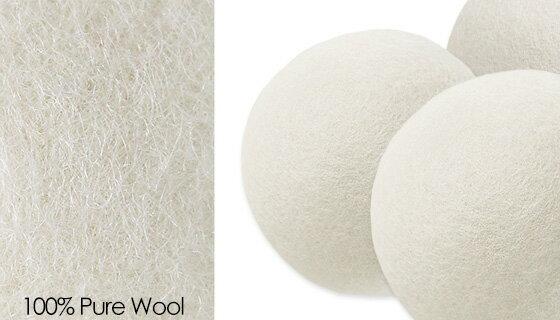 6pk Wool Dryer Balls - Natural Fabric Softener 1