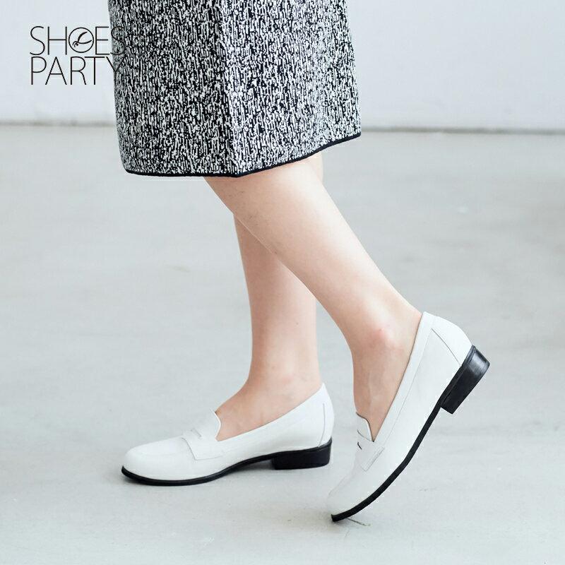 【 P2-17120L 】經典真皮樂福鞋_Shoes Party 4