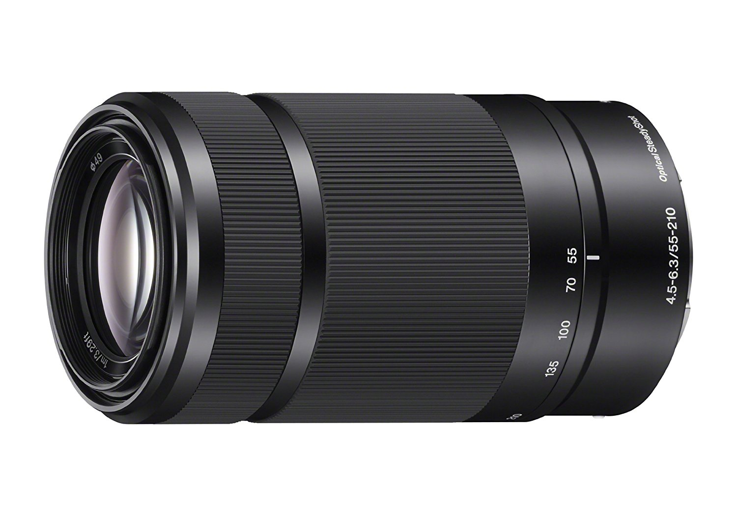 Sony SEL55210 55 mm - 210 mm f/4.5 - 6.3 Full Frame Sensor Telephoto Lens for Sony E - Designed for Camera - 49 mm Attachment - 1x Magnification - 3.8x Optical Zoom - Optical IS