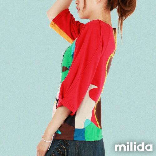 【Milida,全店七折免運】-秋冬單品-T恤款-甜美拼貼款 2