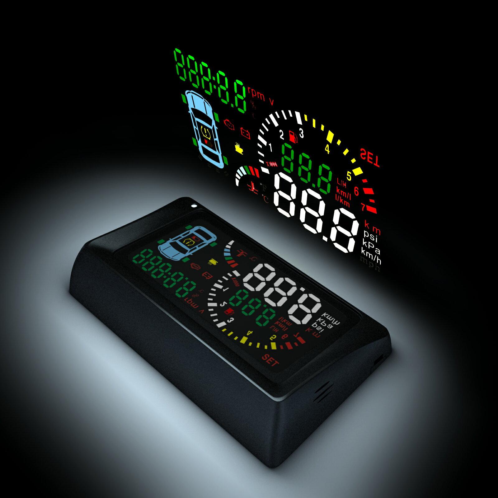 【哈默爾市集】安全駕馭首選TSA S500-T 胎壓型抬頭顯示器