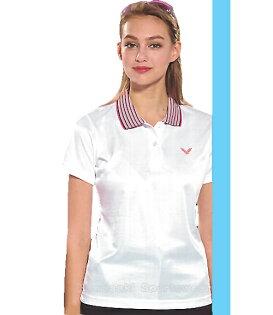 【日本Kawasaki】女版運動休閒吸濕排汗短POLO衫-白#KW2239A(排汗衫)