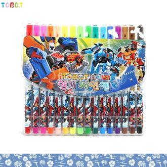 大田倉 韓國進口正版 機器人 TOBOT 16色 彩色筆 韓國製 細筆頭 上學用品 繪畫 文具 畫畫 274650
