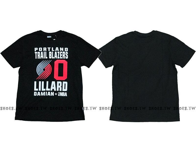 《限時5折》Shoestw【8660258-027】NBA T恤 波特蘭 拓荒者隊 0號 LILLARD DAMIAN黑色 短袖棉T