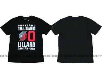 Shoestw【8660258-027】NBA T恤 波特蘭 拓荒者隊 0號 LILLARD DAMIAN黑色 短袖棉T